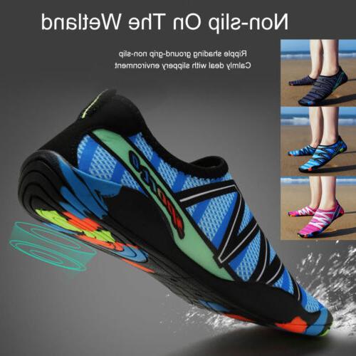 mens womens aqua beach water shoes quick