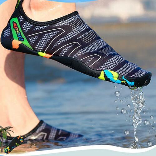 mens water shoes beach swimming barefoot aqua