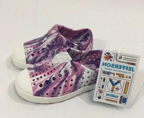 Native Water Shoes, Purple/Shell Size