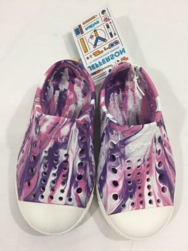 native kids marbled jefferson water proof shoes