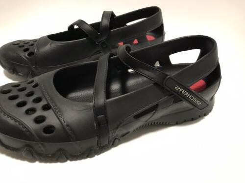 New Skechers Mary Black Rubber Water Shoes