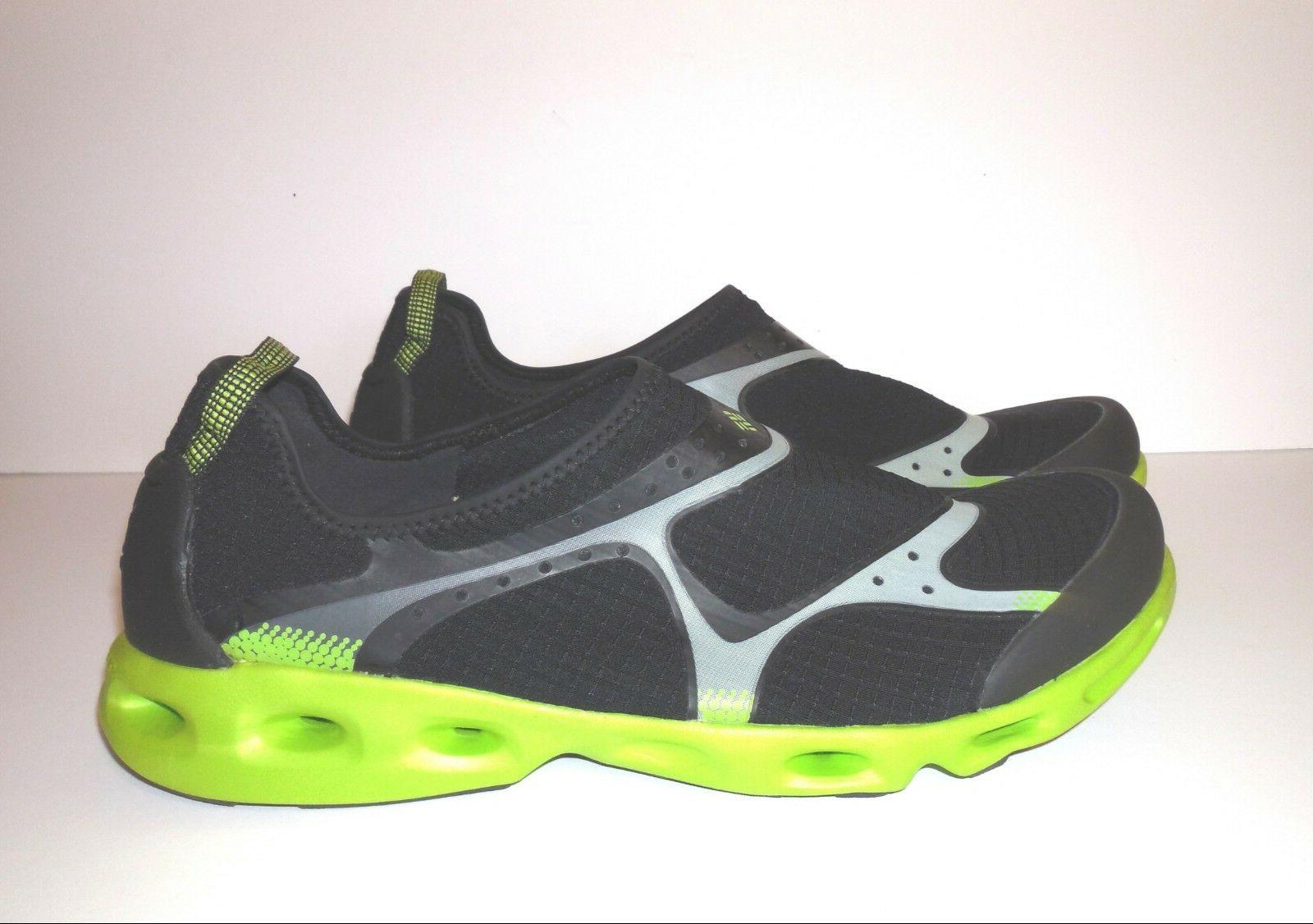 Columbia Drainsock Water Shoes sz 12 Black Lime