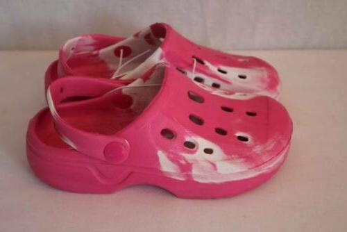 2 3 Pink Sandals Clogs Pool Large