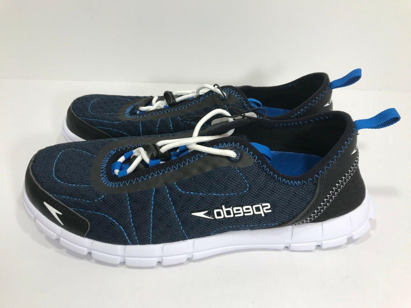 *New* Speedo Hybrid Men's Sizes 9 Black/Blue Shoes