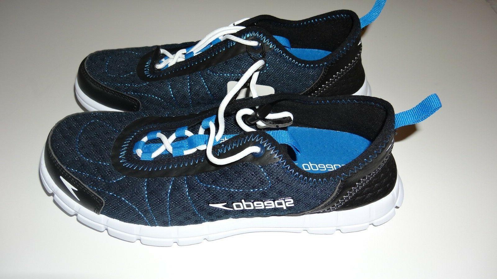 New Speedo Watercross Shoe with drainage Navy/White