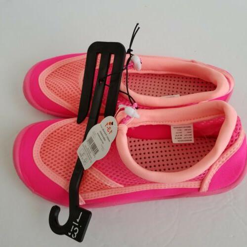 new pink water shoes beachwear girls size