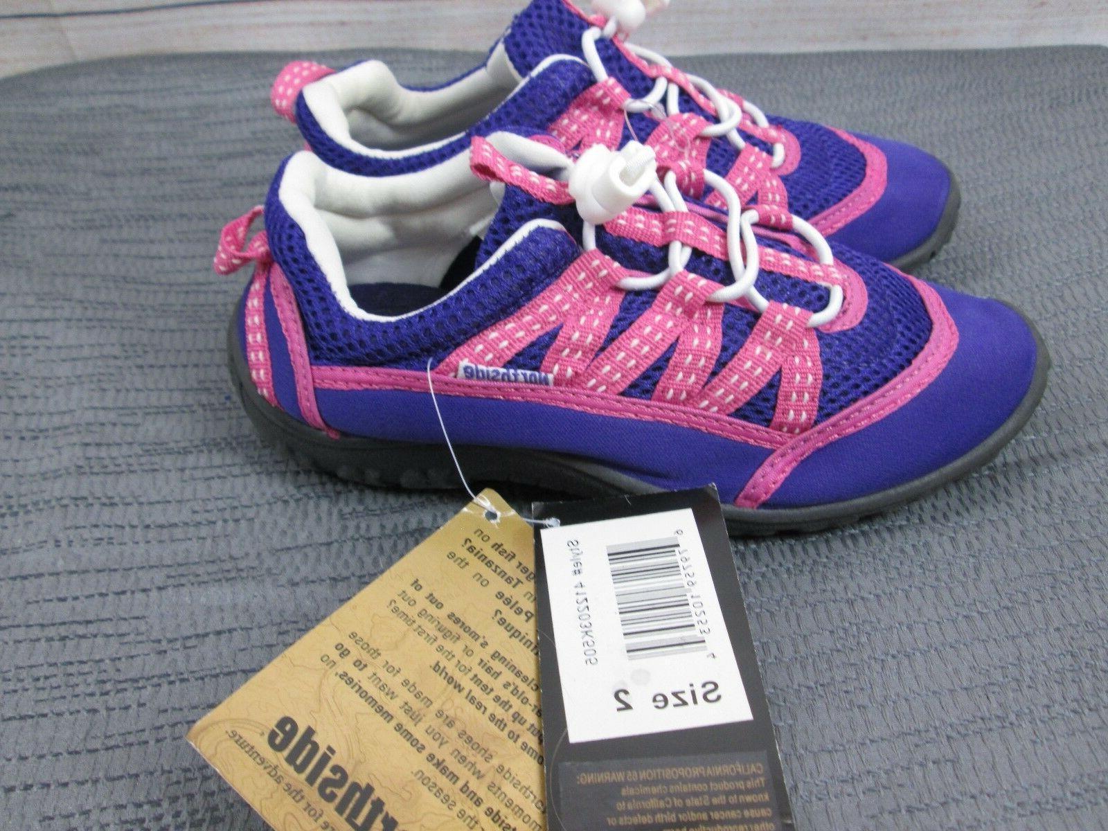 NEW Girl's Size 2 Purple Neoprene Sandals Beach Shoes