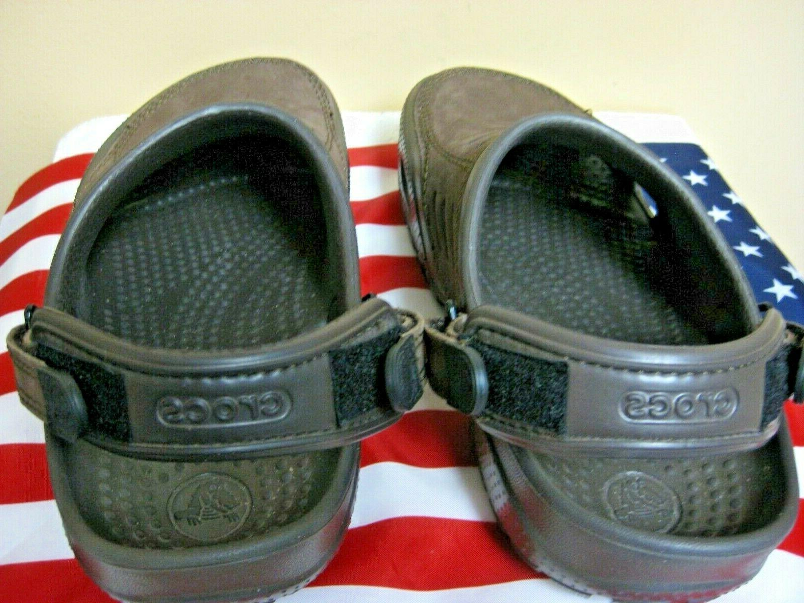 NEW! YUKON VISTA Brown Clogs Shoes Closed Toe Slides Men's size 8