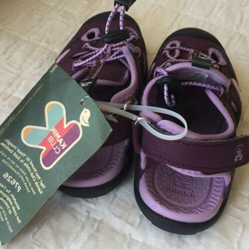 NWT $45 Kamik Oyster2 Sandals Purple Sz