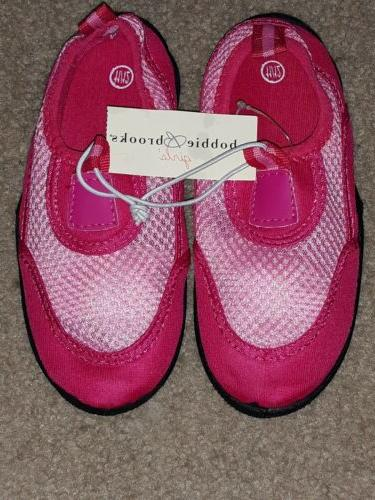 nwt girls pink light pink water shoes