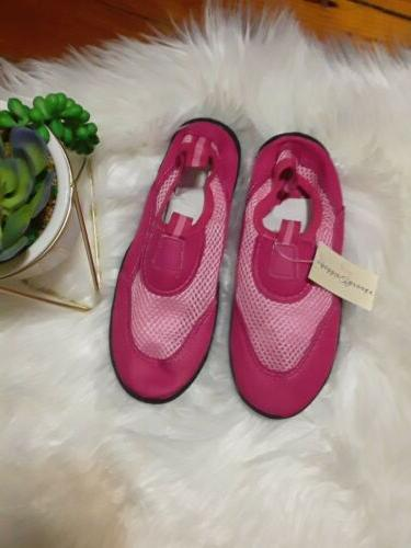 pink water shoes size large 2 3