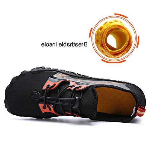 Centipede Mens Quick Dry Aqua Shoes Barefoot for Swim Surf Sports Orange Men 12 M