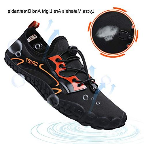 Dry Shoes Barefoot Swim Sports Pool Orange Men