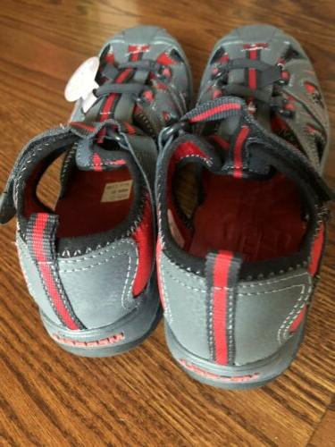 Merrell Sandals Hydro Hiker Water Shoes Size Red Grey Boys