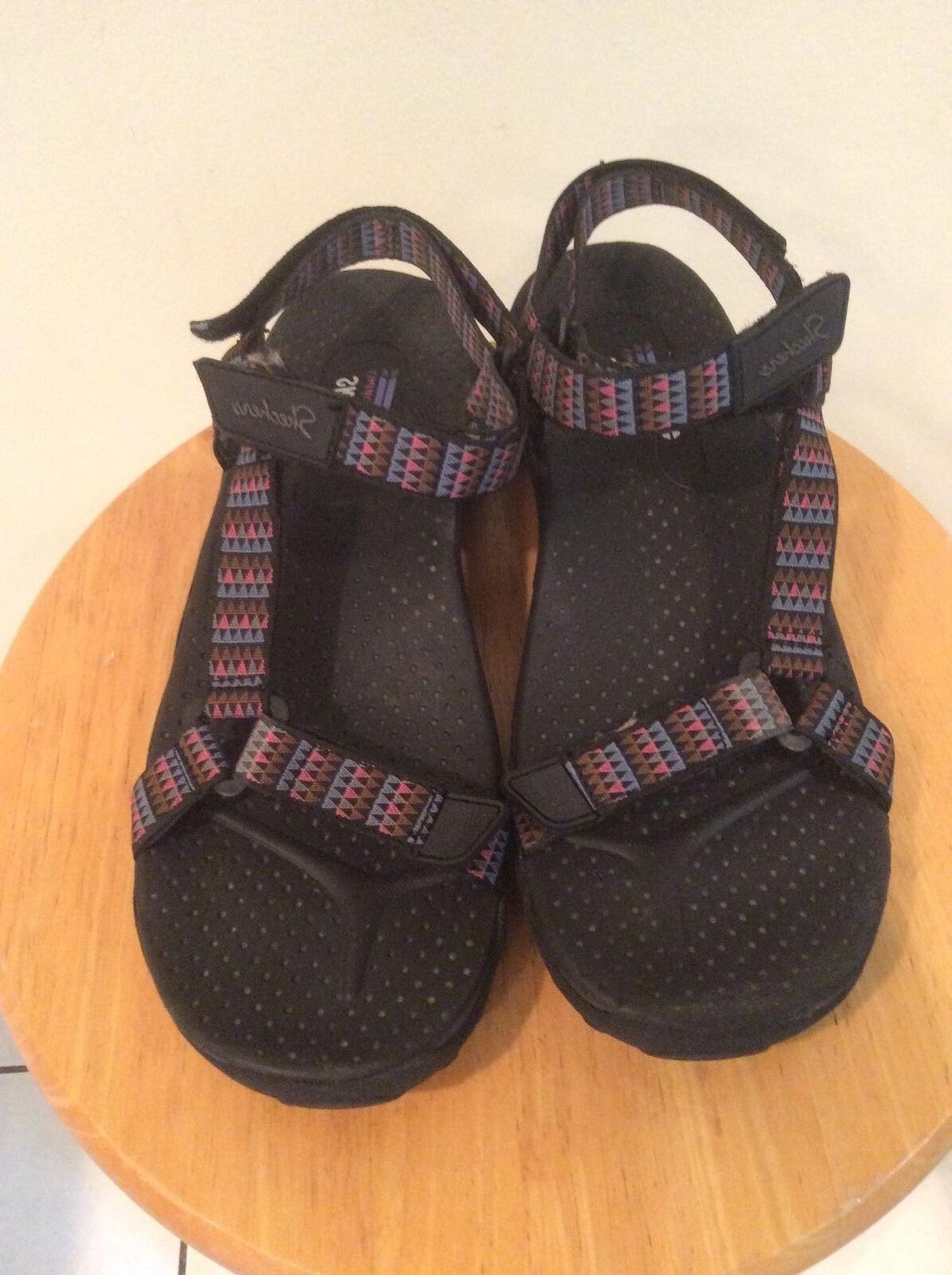 Skechers sandals womens multi colors water shoes Sz 9 M EUC