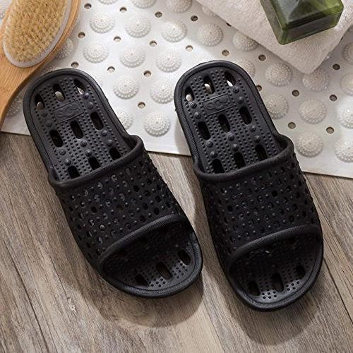 clootess Shower Slipper Sandal Women Pool Home Non-Slip Drying Holes