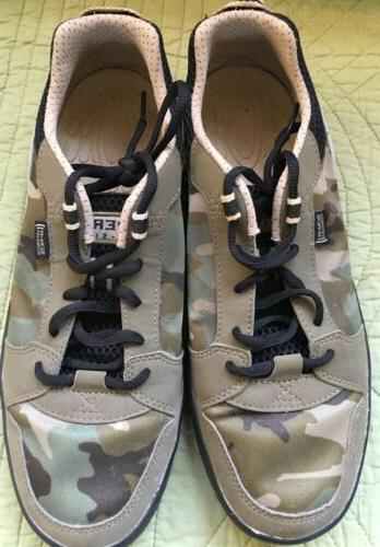 SPERRY TOP-SIDER BOAT WATER SHOES  CAMO TAN/GREEN SON-R TECH