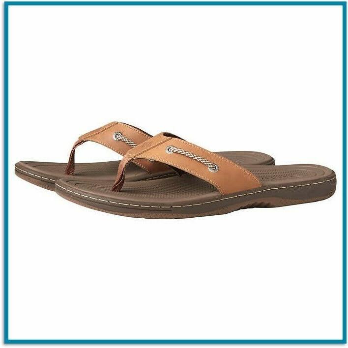 sperry top sider flip flops mens leather