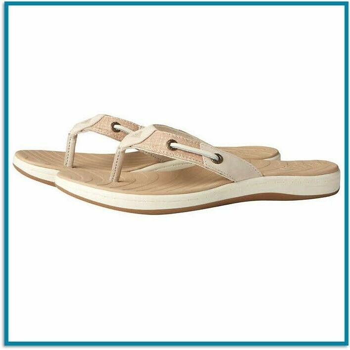 sperry top sider flip flops womens leather