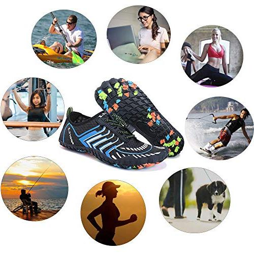 MAYZERO Summer Men Swim Surf Beach Pool Shoes Wide Toe Hiking Aqua