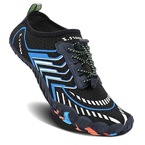 MAYZERO Summer Water Men Quick Swim Surf Beach Pool Shoes Wide Aqua Shoes