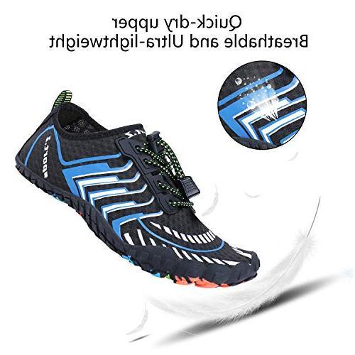 MAYZERO Men Swim Beach Pool Shoes Aqua Shoes