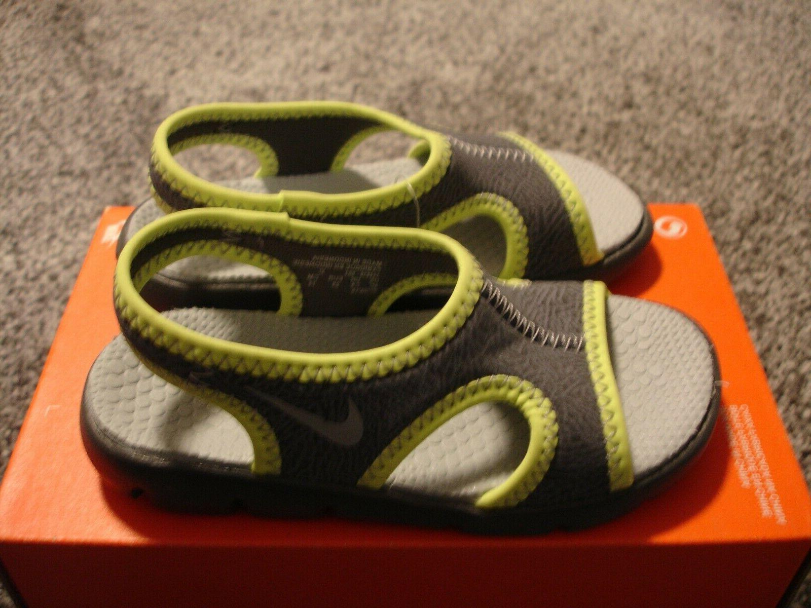 sunray 9 gray sandals water shoes toddler