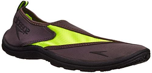 Speedo Men's Surfwalker Pro 2.0 Water Shoe, Grey/Safety Yell