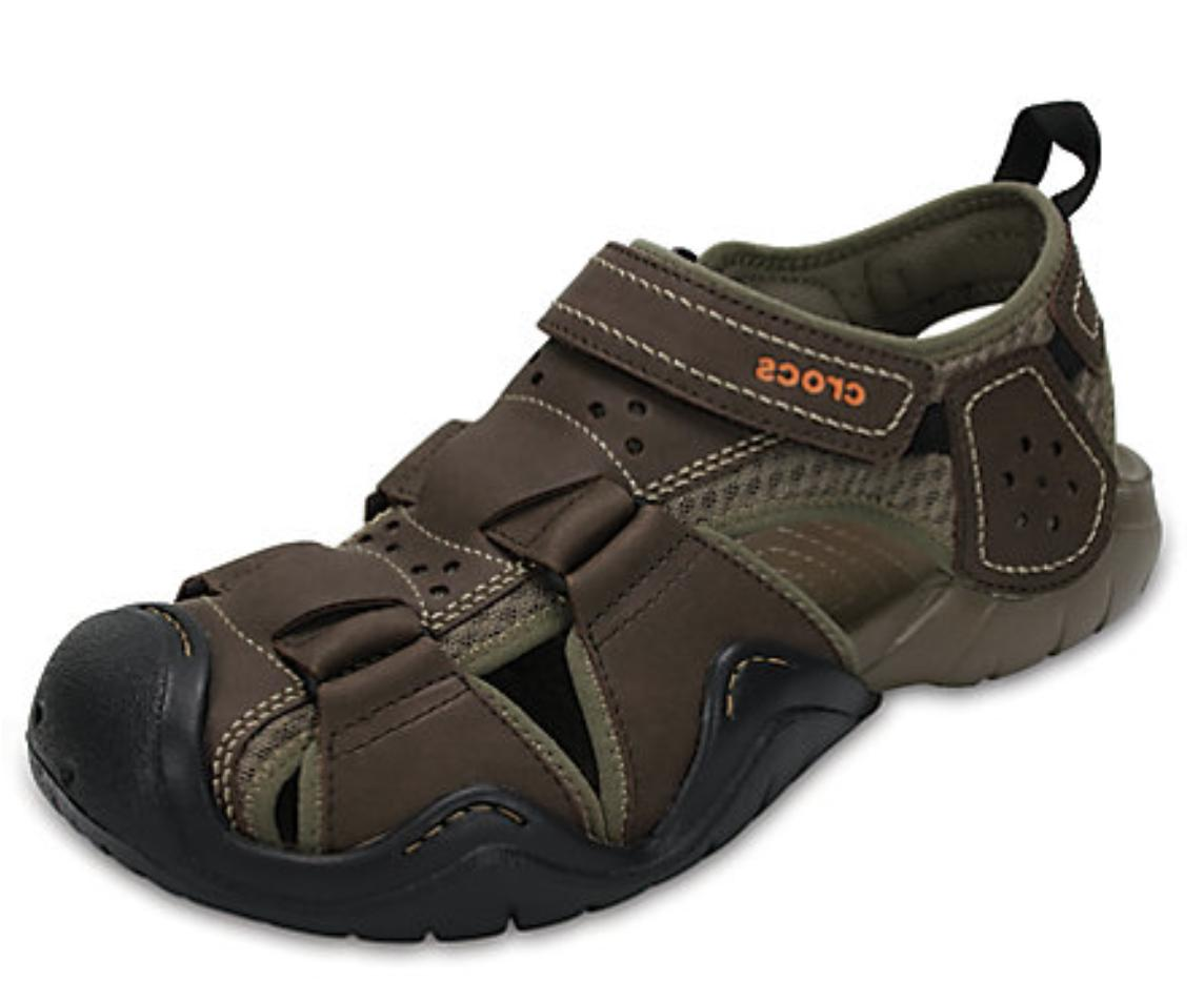swiftwater leather fisherman water shoes sandals espresso