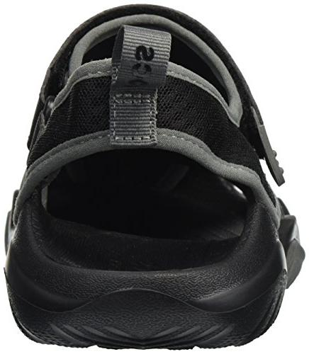 Crocs Men's Mesh Deck Sport, Black, 12 M