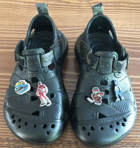 sz 11 black adjustable strap croc style