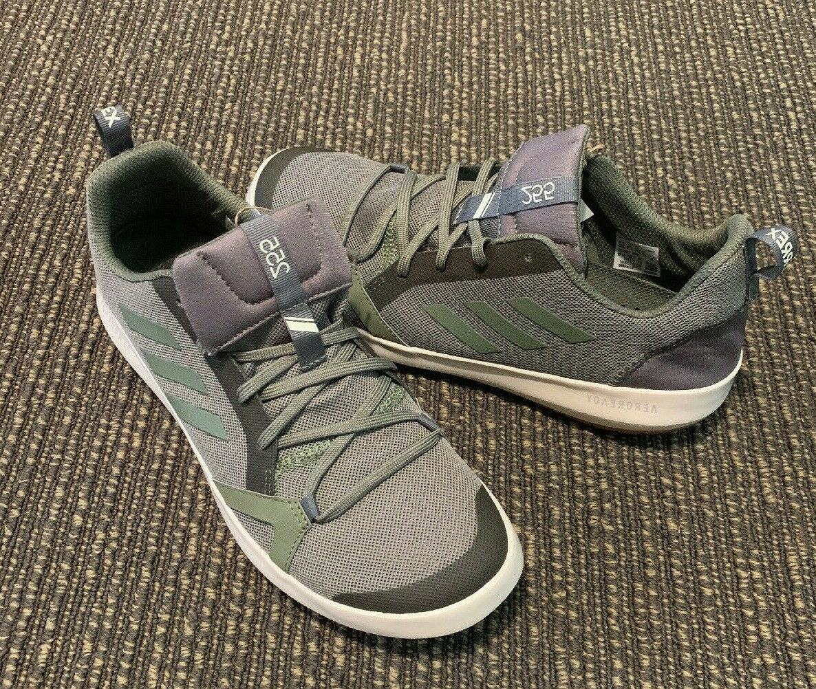 adidas cc boat shoes green Men's size 9