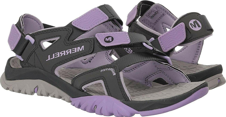 Merrell Tetrex Strap Women Grey Outdoor Sandals Shoes M