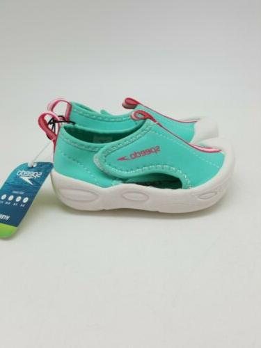 Speedo Girls Water Pool Beach Shoes Size Teal