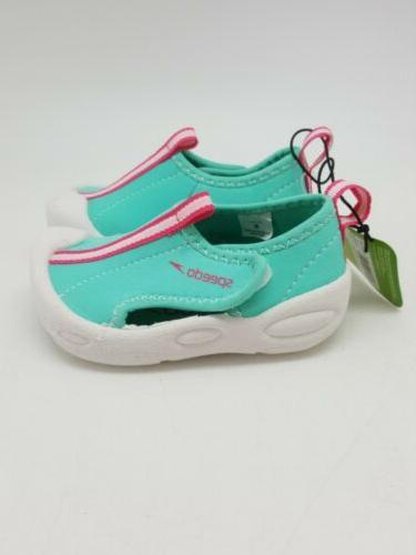 Speedo Water Shoes S Teal Pink