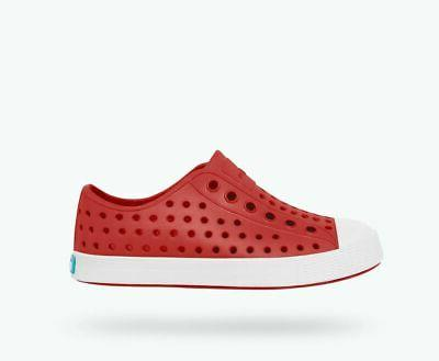 toddler jefferson shoes torch red shell white