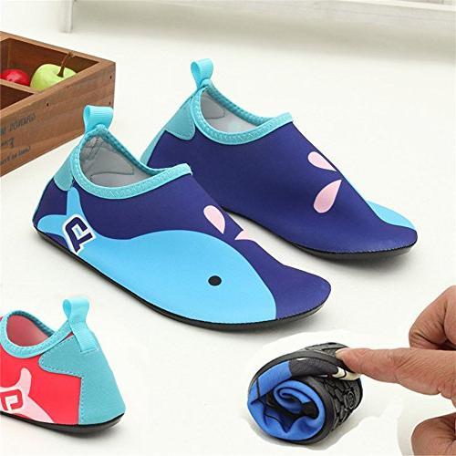 L-RUN Kids' Water Aerobic Shoes Beach Swim Socks