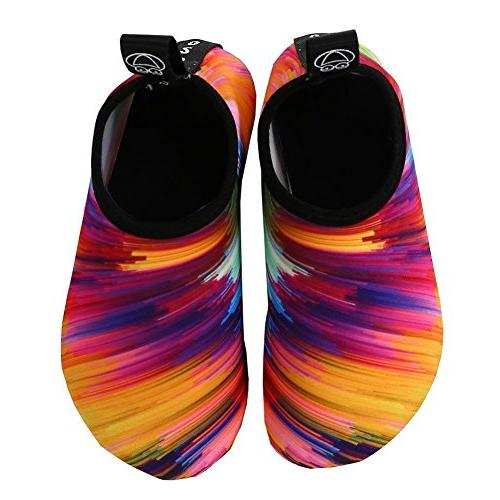 VIFUUR Water Shoes Barefoot Quick-Dry Aqua Yoga Socks Men Women
