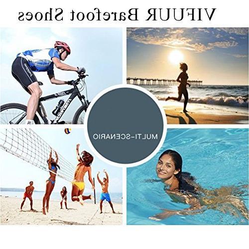 VIFUUR Water Sports Barefoot Quick-Dry Aqua Yoga Socks Slip-on Women