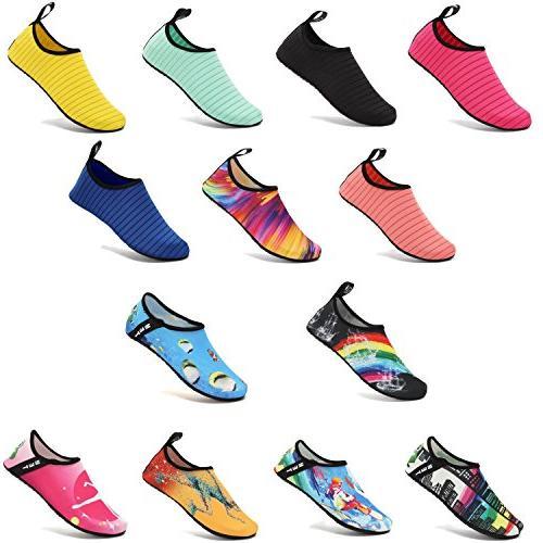 VIFUUR Water Barefoot Aqua Socks Slip-on