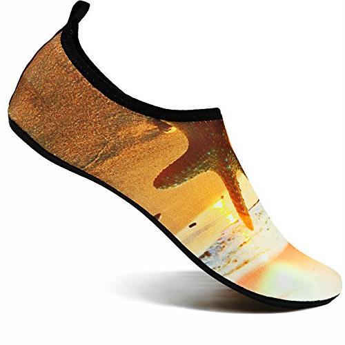 VIFUUR Men Women Shoes for Surf Swim Yoga Beach Yellow