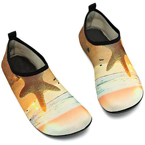 VIFUUR Men Shoes for Run Dive Surf Swim Beach Yellow