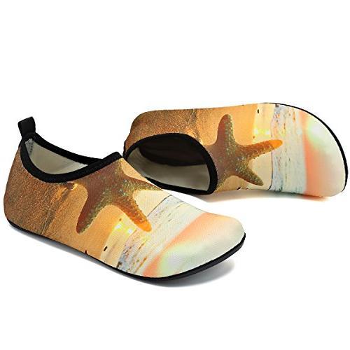 VIFUUR Women Water Shoes for Dive Swim Yellow