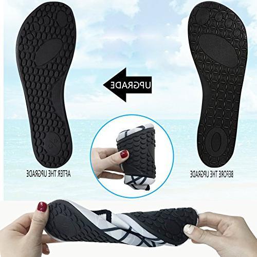 L-RUN Unisex Water Shoes Barefoot Skin Run Beach Sky XXL=EU43-44