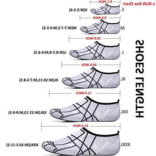 L-RUN Womens Quick Drying Mens Sock Skin Shoes White