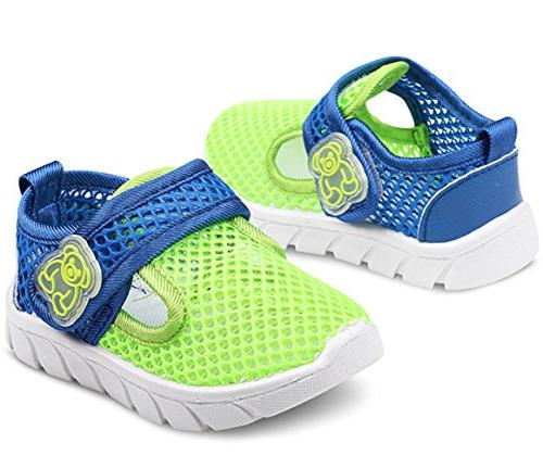 DADAWEN Water Shoes Mesh Sneakers Green US M Toddler