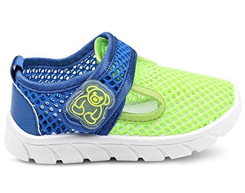 DADAWEN Water Mesh Running Sneakers Sandals Green US M Toddler