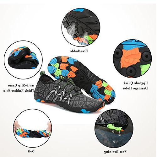Mishansha Men Shoes for Swim Diving Surf Aqua Sports Beach Walking Yoga