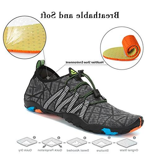Mishansha Men Shoes Dry for Diving Surf Aqua Sports Walking 9.5
