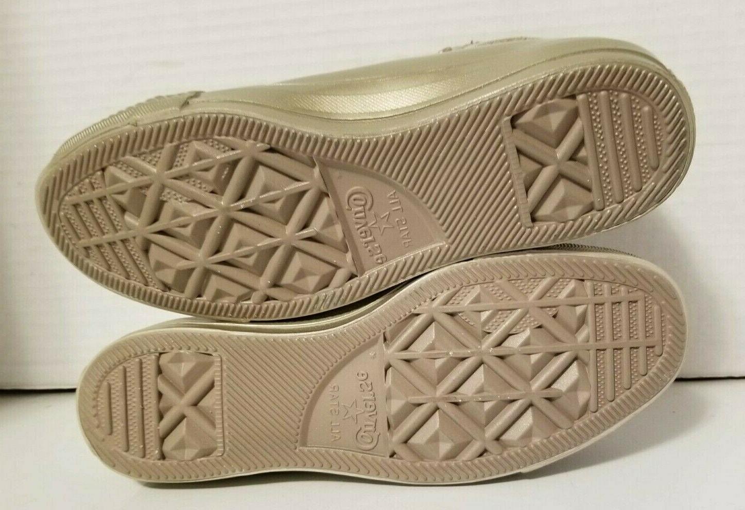 Converse Water Resistant Chucks High Tops Gold Dust Rain Boots Mens 6.5